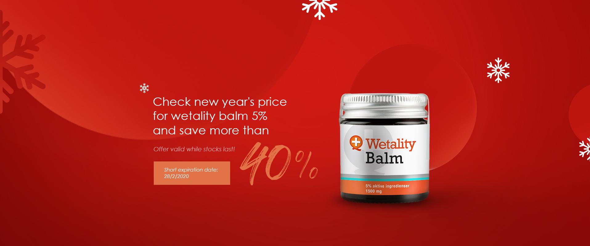 Balm 5% discount 40%