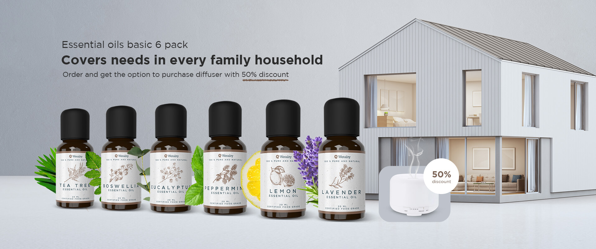 Wetality Essential Oils Basic 6pack